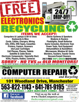 Thede's Computer Repair and Recycling Flyer